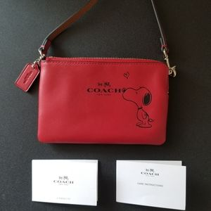 Coach Limited Edition Snoopy Wristlet